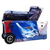 WYLD 75 Quart Dual Compartment Cooler with Wheels (Red, White & Blue) & Tap Kit! Aerator Port Kit &...