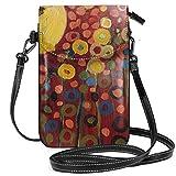 LEPO'S Handy-Umhängetasche Tasche Handtasche Kanarienvogel In Rot Crossbody Smartphone Geldbörse