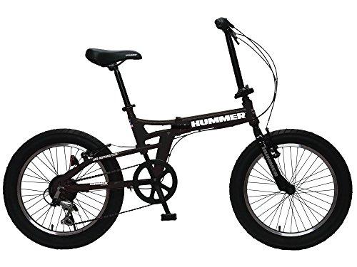 HUMMER(ハマー) FDB206FAT-BIKE ブラック 20インチ 極太3.0タイヤ 折りたたみ式 迫力ある自転車 シマノ製6...