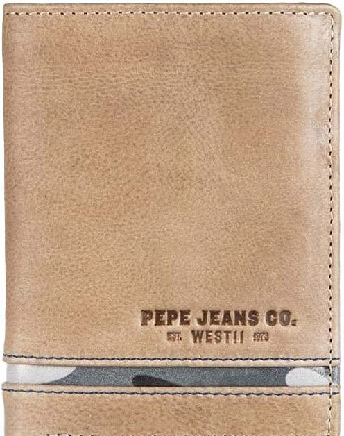 Pepe Jeans Delta Brown Vertical wallet with coin purse