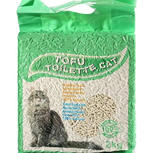 Arena para Gatos Vegetal y Aglomerante Arena de Tofu 100% Natural 3,8L - 2Kg