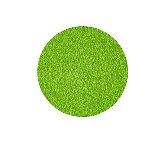 ESTA-Design Dessous de Verre Disque Ø 10 cm Soucoupe Ronde Couleur mai Vert 100% mérinos Feutre 5 mm