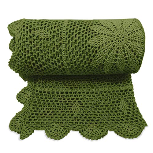 Crochet Macrame Throw Blanket