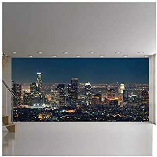 Los Angeles Skyscrapers At Night USA City Skyline Wall Mural Photo Wallpaper available in 8 Sizes Small Digital