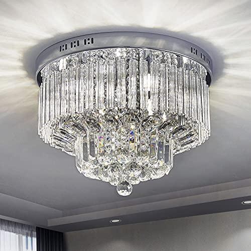 Saint Mossi Chandelier Modern K9 Crystal Raindrop Chandelier Lighting Flush Mount LED...
