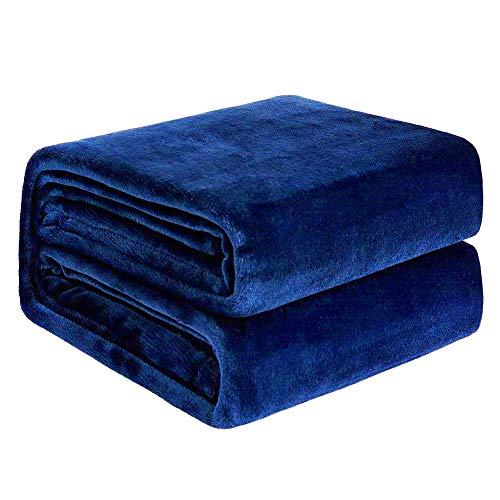 NEWSHONE Flannel Fleece Blanket Queen Size Bedspread— Cozy Soft Light Warm Luxury Bed Blankets for Sofa Couch Multipurpose All-Seasons Microfiber Blanket