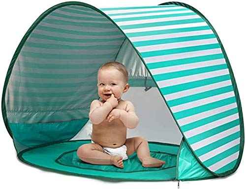 WLDOCA Pop Up Baby Beach Tent, Portable Kiddies Shade Pool Tent UPF 50 UV Protection Sun Shelter Canopy for Infant Indoor and Outdoor Use,Green