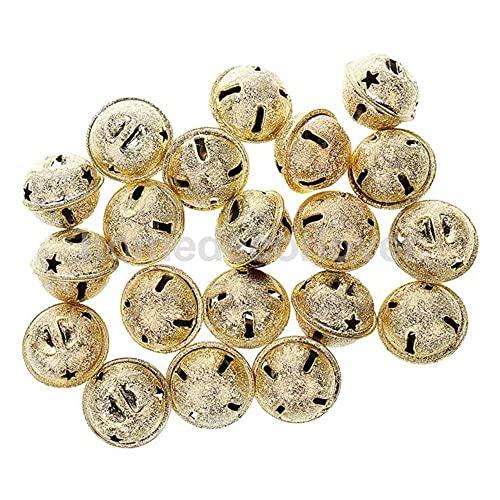 20 piezas 19 * 22 MM oro/plata cascabel para bolsos/monedero/billetera/cordón/joyería-China, oro claro