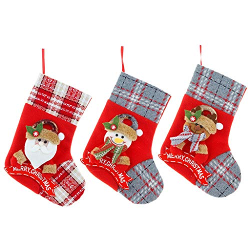 Fasclot Home Decor 3Pcs Christmas Ornaments Home Furnishing Decoration Tree Ornaments