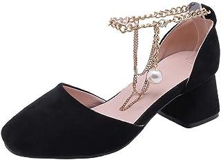 BalaMasa Womens ASL06356 Pu Block Heels