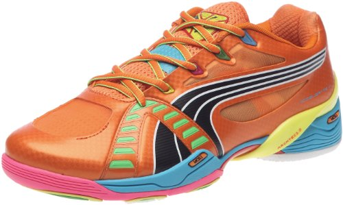 Puma Herren Accelerate VI Tricks Sportschuhe - Indoor, Orange/team orange-fluo yellow-f, 41 EU