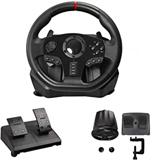 270/900 Degree Motor Vibration Driving Gaming Racing Wheel,With Responsive Gear And Pedals for PC / PS3 / PS4 / Xbox One/X...