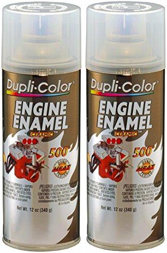 Dupli-Color DE1636 Clear Top Coat Engine Enamel with Ceramic 12 oz. Aerosol (2 Pack)
