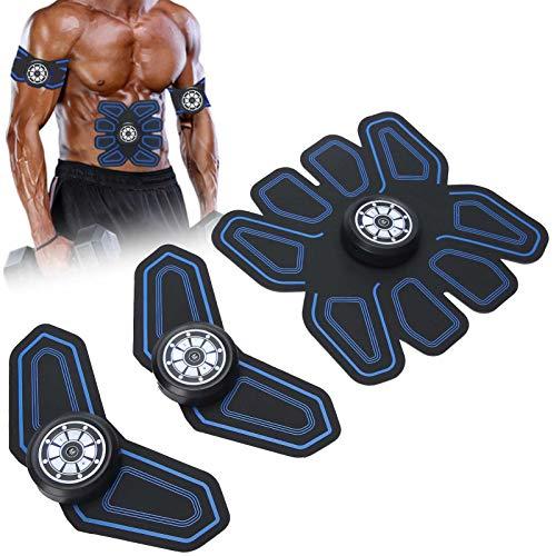 Estimulador de abdominales Entrenador de músculos, cinturón de ejercicios EMS abdominal por voz - Esculpir los músculos en el hogar - Equipo portátil de entrenamiento físico para hombres/mujeres (ca