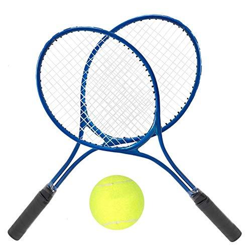 Pissente Raqueta de Tenis, Ligera Raqueta de Entrenamiento de Tenis para Niños con Pelota y Bolsa de Transporte(Azul)
