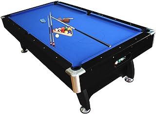 Pool Table 8FT Pub Size Snooker Billiard Table Blue Felt Black Timber Finish