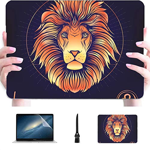Computer Case Zodiac Zodiac Sign Leo Plastic Hard Shell Compatible Mac Mackbook Case Protection Accessories for MacBook with Mouse Pad