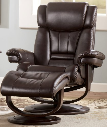 Big Sale Chocolate Leather Loungers by Famous Brand