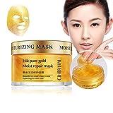 Lucoss 24K Gold Gesichtsmaske Schlaf feuchtigkeitsspendend straffende glatte Haut feine Linien schrumpfen Poren feuchtigkeitsspendende Goldmaske