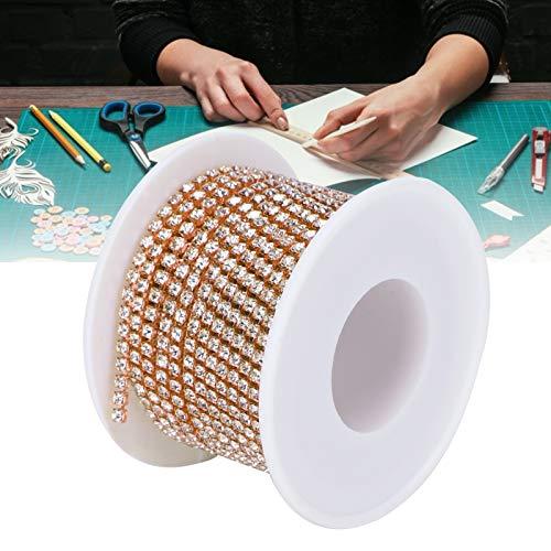 Cadena de decoración artesanal Cadena de decoración de boda Cadena de decoración DIY Cadena de diamantes artificiales Decoraciones de boda de diamantes artificiales(Rose gold)