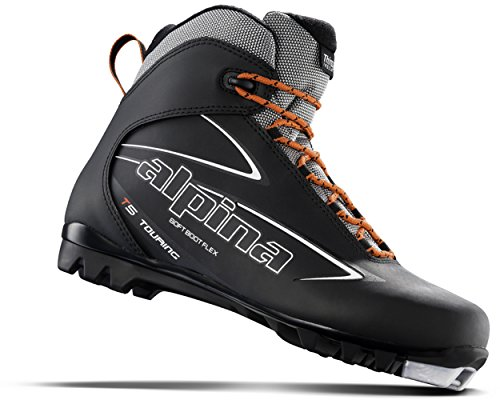 Alpina Sports T5 Touring Cross Country Nordic Ski Boots, Euro 43, Black/White/Red