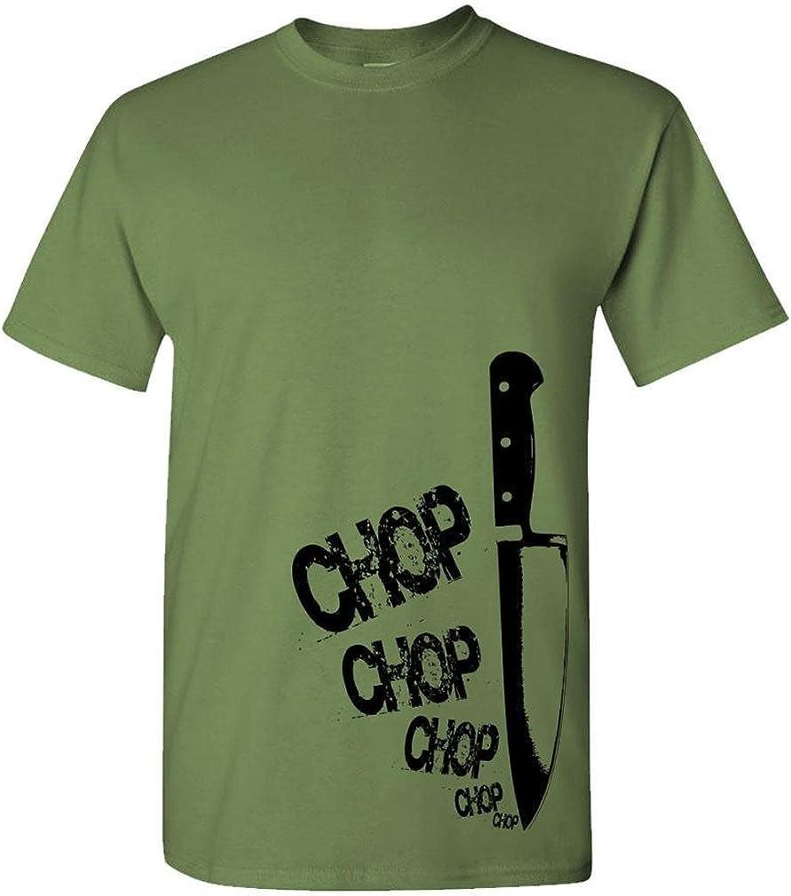 Chefs Knife chop chop - Cook Gourmet Foodie - Mens Cotton T-Shirt