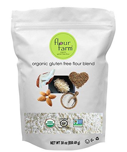 Organic Gluten Free Flour Blend - All Purpose Flour made with 5 Organic GF Ingredients - Sweet Rice Flour, Brown Rice Flour, Tapioca Flour, Almond Flour & Coconut Flour - by Flour Farm