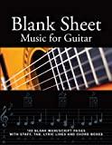 Blank Sheet Music for Guitar: 100 Blank Manuscript Pages with Staff, TAB, Lyric Lines and Chord Boxes