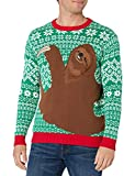 Blizzard Bay Men's Sloth Hug Ugly Christmas Sweater,...