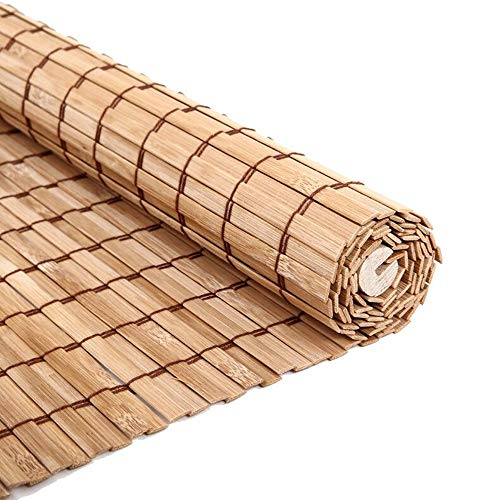 JIAYUAN rolgordijnen bamboe rolgordijn, bescherming tegen inkijk jaloezieën 90% hoge schaduw, 85 cm / 105 cm / 125 cm / 145 cm breed vouwgordijnen