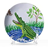 "Jeffcyb crocodile and bird,Hipster Cool Collection Decorative 6 inch 8""Inch"