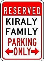 金属サインキレイ家族駐車場ノベルティ錫通り看板