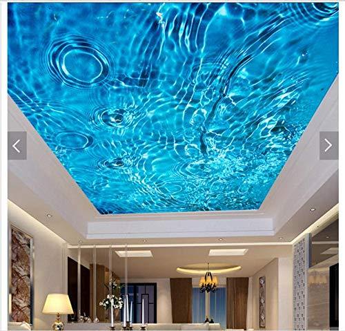 Benutzerdefinierte 3D-Fototapete 3D-Deckenbild-Tapeten-Wandbilder Sky Blue-Wasserlinien Fresken auf Raum-Tapeten der Mode 3D, 400 × 280cm