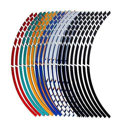 BLOUR 16 Streifen Persönlichkeit Motorrad Auto Rad Reifen Aufkleber Streifen Reflektierende Felgenband Motorrad Aufkleber Auto Dekoration Zubehör