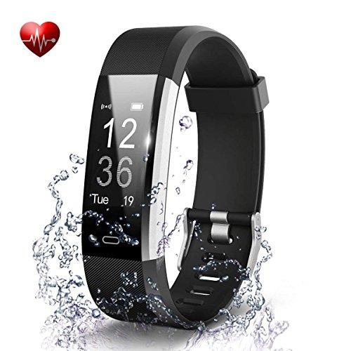 Fitness Armband, Antimi Fitness Trackers Pulsuhren Schrittzähler für iPhone Android Handy