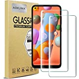 AOKUMA Galaxy A11 保護 フィルム【2枚セット】強化ガラスフィルム 液晶保護ガラスフィルム 超薄0.33mm 硬度9H 飛散防止 高透過率 指紋防止 気泡なし 自動吸着