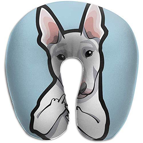 Xiaoyinghua Almohada para el Cuello en Forma de U Almohadas para el Dedo Medio del Toro del Perro Portátil Suave para Leer de Viaje Dormir