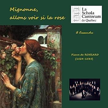 Pierre de Ronsard: Mignonne, allons voir si la rose