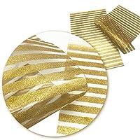 SHUITOU 20 * 34センチメートルグリッターフェイク人工合成皮革ヘアーリボンManualの装飾工芸単品 (Color : Gold)