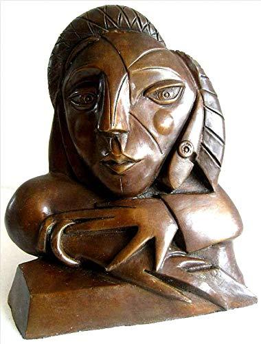 augustandmarch BRONZESKULPTUR Frau AM Fenster Limitierte Auflage MODERN Art Bronze SKULPTUR ALS Hommage AN Picasso