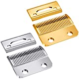 2 Sets Adjustable Clippers Blades, 2 Hole Hair Trimmer Replacement Blade for Wahl 1006, Super Taper #8400 (Silver, Gold)