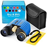 Kids Binoculars Toy Gifts for 3 4 5 6 7 8 9 10 11 12 13 Years Old Boys Girls – Compact and Shock Proof Mini Binoculars for Kids 8x21 Zoom Bird Watching Sporting Events Children Best Present (Blue)