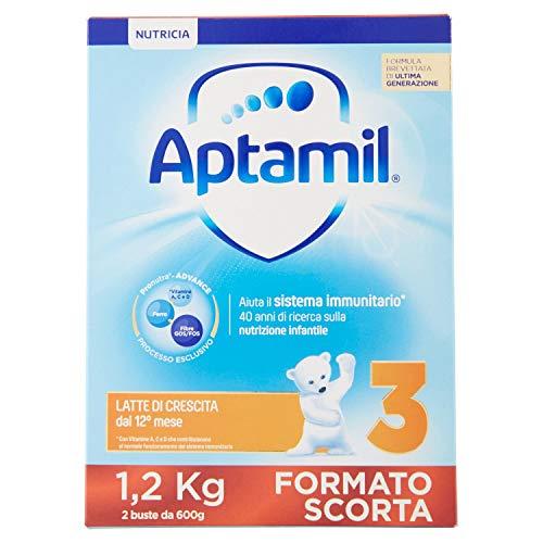 Aptamil 3 Latte Crescita Polvere - 3 Pezzi da 1.2 kg - Totale: 3.6 kg