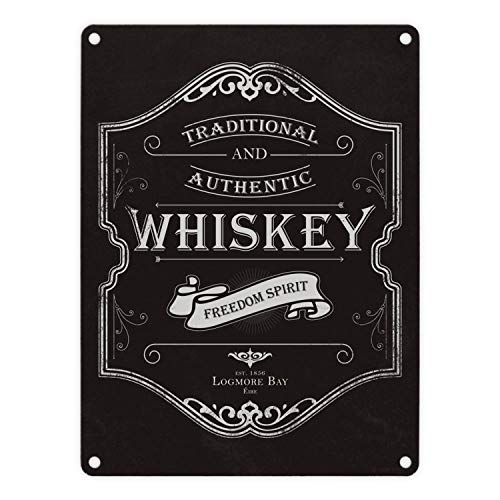 trendaffe - Das Whiskey Logo Metallschild in 15x20 cm