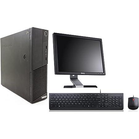 (Renewed) Lenovo ThinkCenter M80 Desktop (Intel Core i3/2 GB RAM(Upgradable to 8GB) / 250 GB HDD/ Windows 7, MS Office/17 inch HD Monitor (1380 x 800), Intel HD graphics), Black
