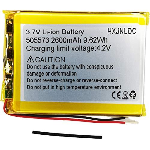DC 3.7V 2600mah 505573 li-ion Lithium Ion Polymer Battery Replacement per Diy compresse batteria