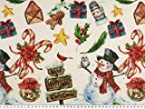ab 1m: Weihnachtsstoff, Schneemänner + Weihnachtsmotive,