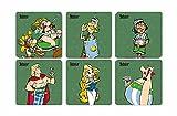 SD Toys Legionäre Asterix Untersetzer, Kork, Mehrfarbig, 3x 9x 9cm, 6Stück