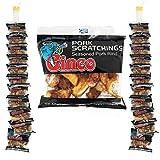 Ginco Pork Scratchings Bulk, 24 X 42g Packs of Original Pork Crackling, 100% Pork Rinds, Hand Cooked Pork Scratchings UK, Low Carb High Protein Pub Snacks, Pork Scratching Gifts for Men…