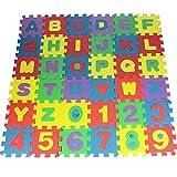 nJiaMe 36pcs DIY Puzzle De La Estera del Juego Espuma De Eva Suave del Bebé El Desarrollo De Planta De Arrastre del Cojín Alfombras Digital Y Carta Alfombra De Juego para Bebés